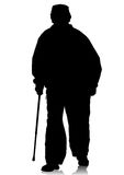 Disabled on whit crutches Stock Photography