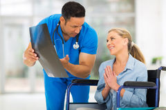 Disabled woman doctor Royalty Free Stock Photo