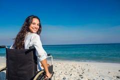 Disabled woman looking at camera Royalty Free Stock Photography