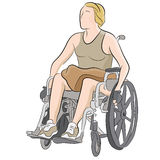 Disabled Woman In Wheelchair Stock Images