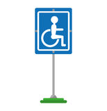 Disabled zone traffic signal Stock Image