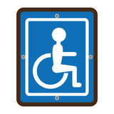 Disabled zone traffic signal Royalty Free Stock Images
