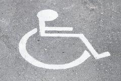 Disablepersontecken Royaltyfri Fotografi