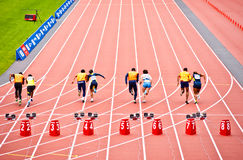 Disables athletes race in London 2012 stadium Stock Image