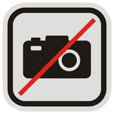 Disabling photography, vector icon, black and gray frame Stock Photo