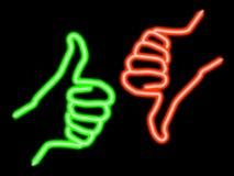 Disaccordo al neon Fotografia Stock Libera da Diritti
