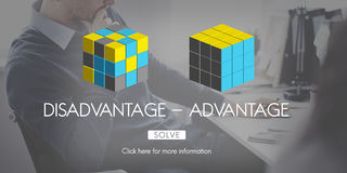 Disadvantage Advantage Comparison Decision Concept Royalty Free Stock Image