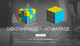 Disadvantage Advantage Comparison Decision Concept. Disadvantage Advantage Comparison Decision Choices Stock Photos