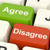 Disagree And Agree Keys For Online Poll Or Voting. Disagree And Agree Keys For Online Poll Or Web Voting Stock Image