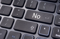 Disagree concepts, no on keyboard enter key Stock Image