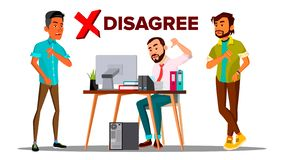 Disagree Person Vector. Business Disagree Dislike People. Finger Down. Negative Mark. Illustration. Disagree Person Vector. Business Disagree Dislike People stock illustration