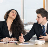 Disagreed female executive and young employee Royalty Free Stock Photos