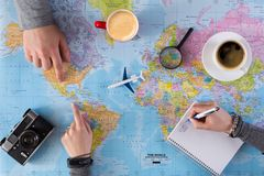 Disagreement in choosing place of vacation Stock Photo