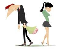 Disagreement between man and woman Royalty Free Stock Photos