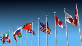 Disagreement between nations stock video footage