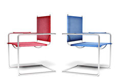 Disagreement office chairs Royalty Free Stock Photos