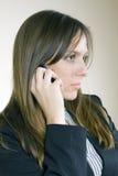 disapointed телефон девушки довольно Стоковые Изображения RF
