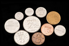 Disappeared coin-Guilder(Netherlands) Stock Photos