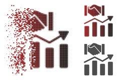 Development Dust Pixel Halftone Icon Stock Vector
