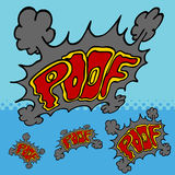 Disappearing Poof Effect. An image of comic book disappearing poof text effect vector illustration