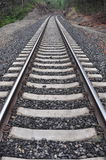 Disappearing Railroad Tracks Royalty Free Stock Images