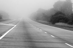 Disappearing Road Royalty Free Stock Photography