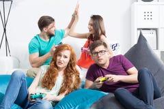 Disappointance sur le jeu inopinément perdu Photo stock