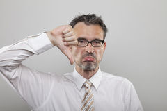Disappointed accountant Royalty Free Stock Images