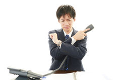 Disappointed Asian businessman Stock Photos