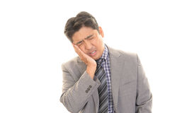 Disappointed Asian businessman royalty free stock image