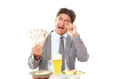 Disappointed Asian businessman stock photo