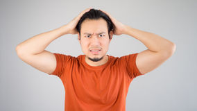 Disappointed asian man. Stock Images
