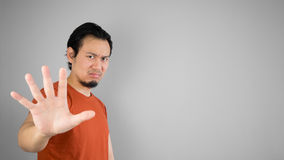 Disappointed asian man. Stock Photo