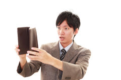 Disappointed Asian man Stock Photo