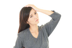 Disappointed Asian woman Royalty Free Stock Photo