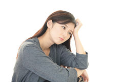 Disappointed Asian woman Royalty Free Stock Photos
