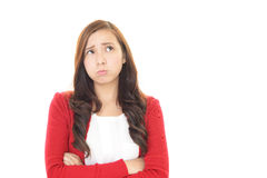 Disappointed Asian woman Royalty Free Stock Images