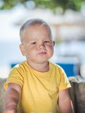 Disappointed baby Stock Image