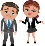 Disappointed Business Woman and Man royalty free illustration
