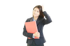 Disappointed business woman royalty free stock images