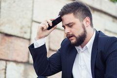 Disappointed businessman Stock Images