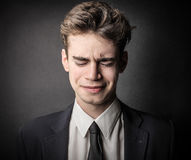 Disappointed businessman Stock Photography