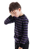 Disappointed child portrait Stock Photo