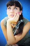 Disappointed girl. Image of a brunette teen with disappointed expression on her face Royalty Free Stock Photography