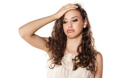Disappointed girl royalty free stock photos