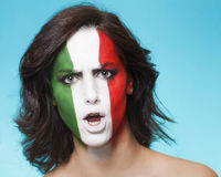 Disappointed italian supporter for FIFA 2014 looking Royalty Free Stock Image