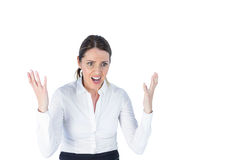 disappointed looking businesswoman Stock Image
