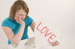 Disappointed love Royalty Free Stock Photo