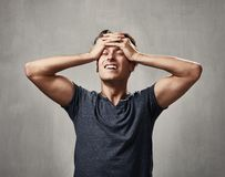 Disappointed man portrait. Stock Photos