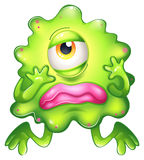 A disappointed monster. Illustration of a disappointed monster on a white background Stock Photo